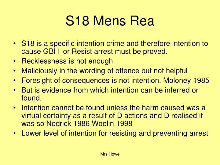 S18 Mens Rea