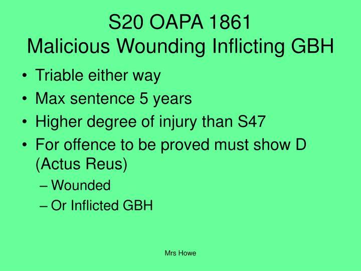 S20 OAPA 1861