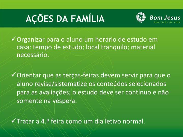 AÇÕES DA FAMÍLIA