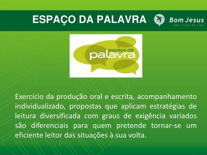 ESPAÇO DA PALAVRA