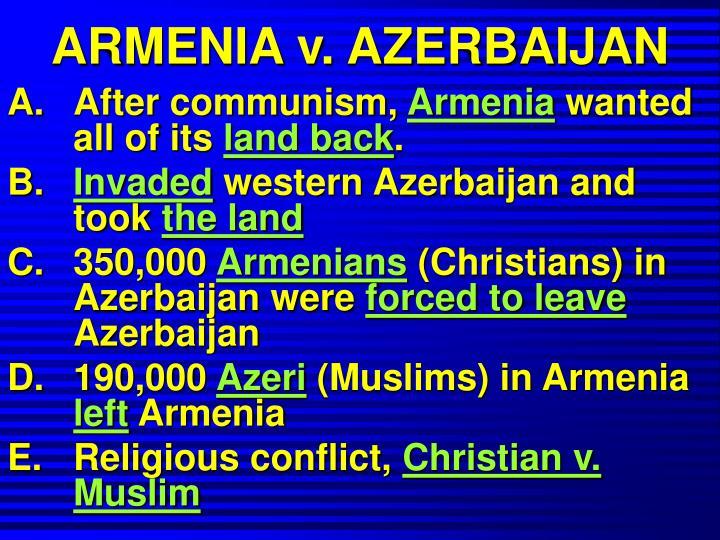 ARMENIA v. AZERBAIJAN