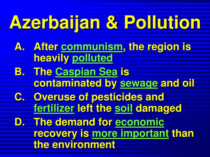Azerbaijan & Pollution