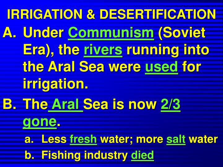 IRRIGATION & DESERTIFICATION
