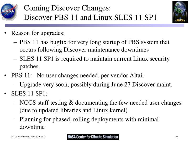 Coming Discover Changes: