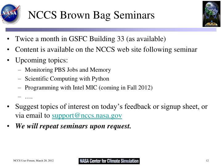 NCCS Brown Bag Seminars