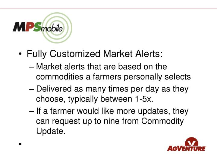 Fully Customized Market Alerts: