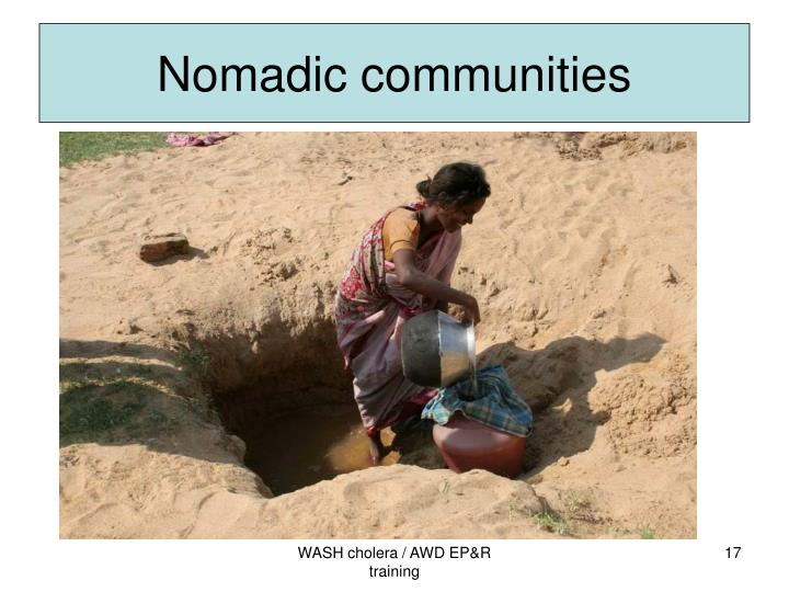 Nomadic communities
