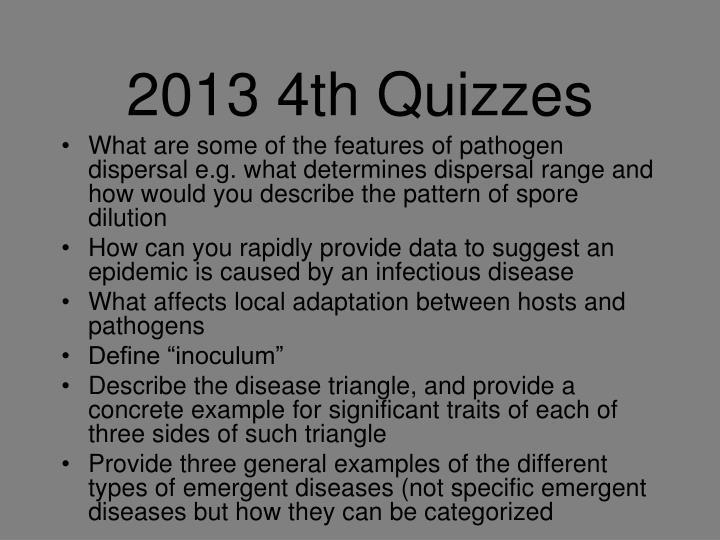 2013 4th Quizzes