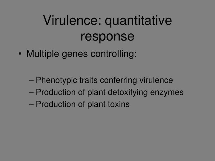 Virulence: quantitative response