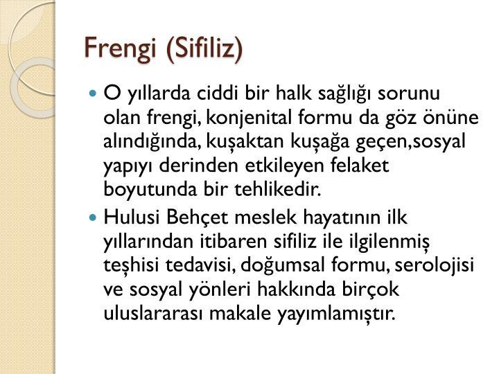 Frengi (Sifiliz)
