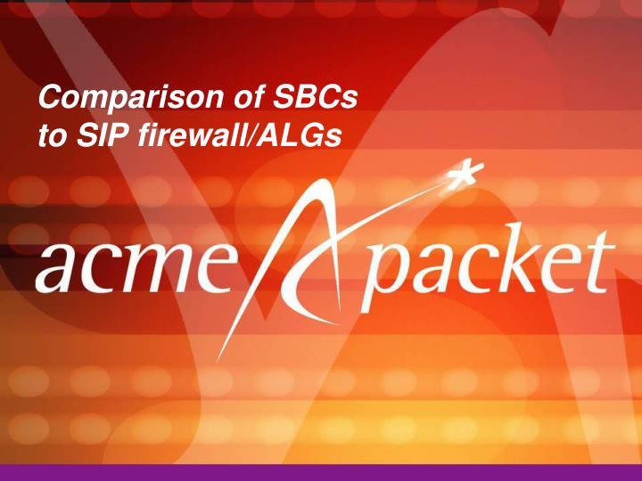 Comparison of SBCs