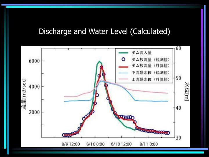 Discharge and Water Level (Calculated)