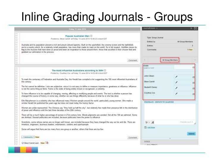 Inline Grading Journals - Groups
