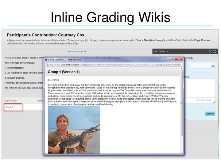 Inline Grading Wikis