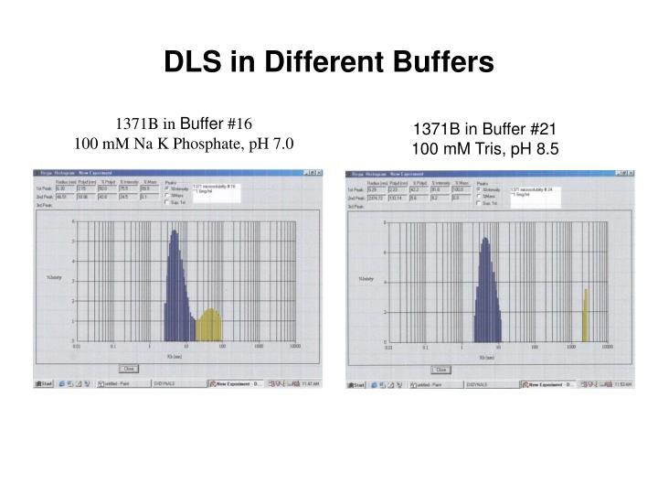 DLS in Different Buffers