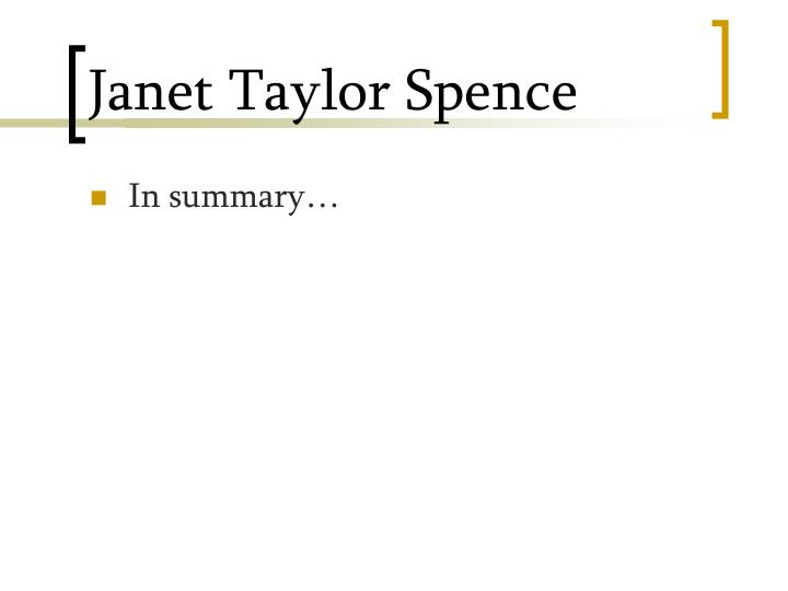 Janet Taylor Spence