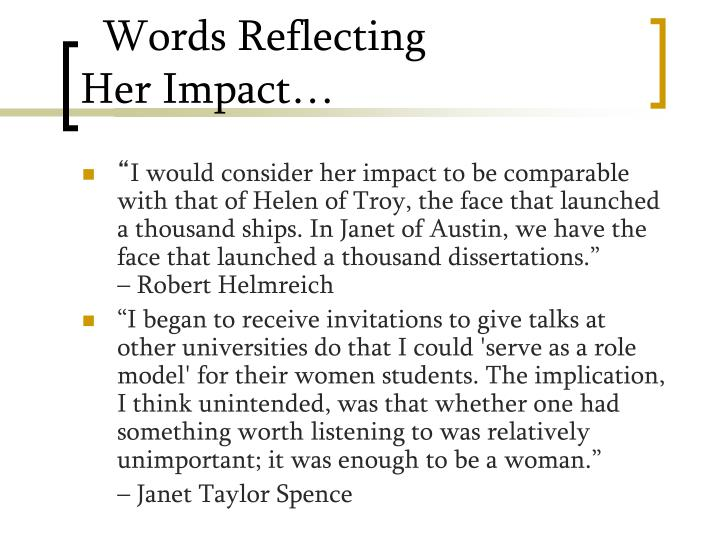 Words Reflecting