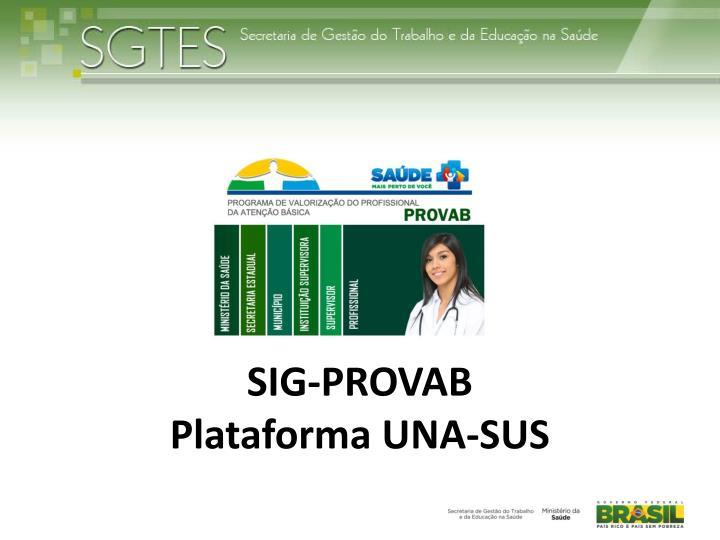 SIG-PROVAB