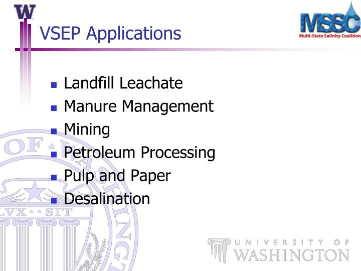 VSEP Applications