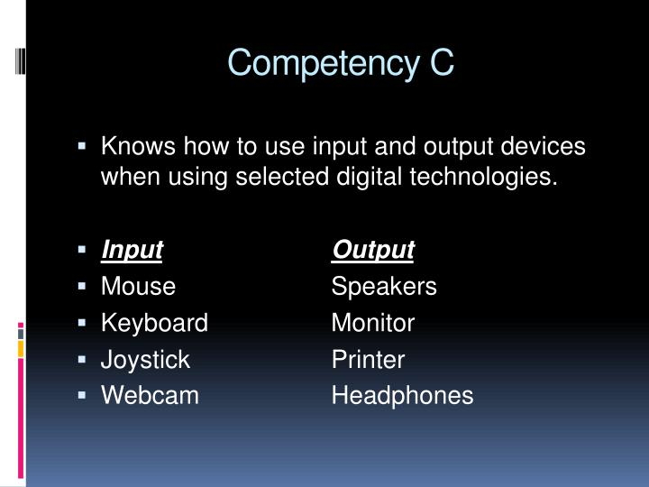 Competency C
