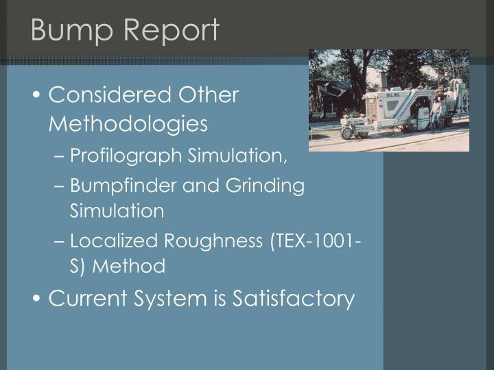 Bump Report