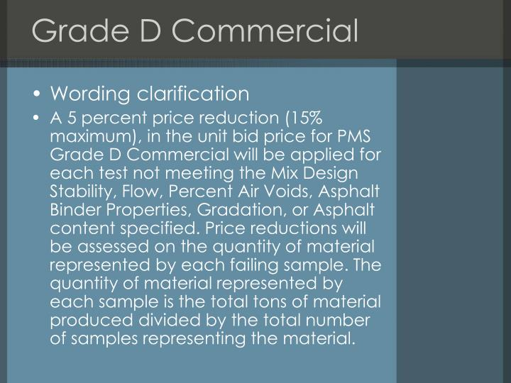 Grade D Commercial