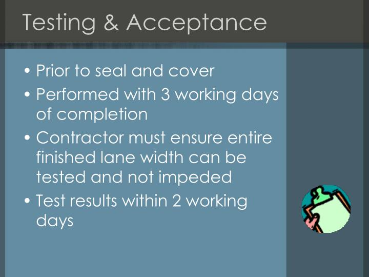 Testing & Acceptance