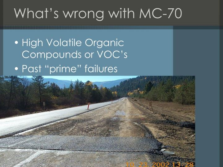 What's wrong with MC-70