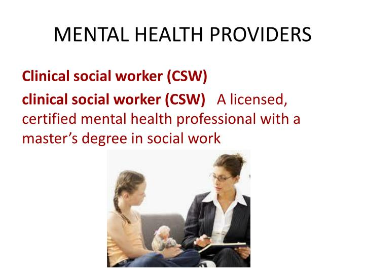 MENTAL HEALTH PROVIDERS