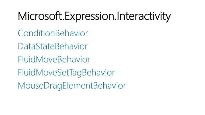 Microsoft.Expression.Interactivity