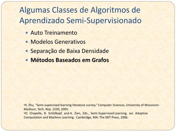 Algumas Classes de Algoritmos de Aprendizado