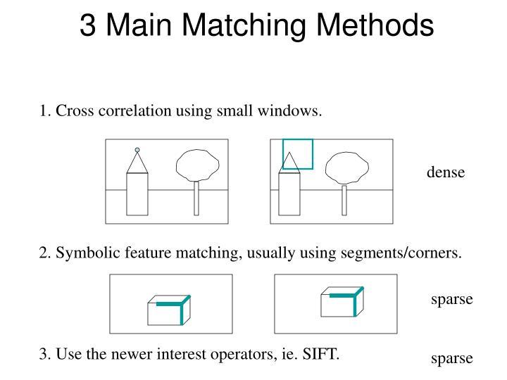 3 Main Matching Methods