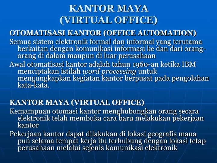 Kantor maya virtual office