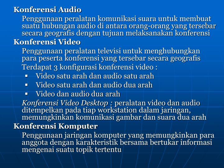 Konferensi Audio