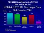 nrmi 4 nste mi discharge care 3rd quarter 2001