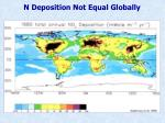 n deposition not equal globally