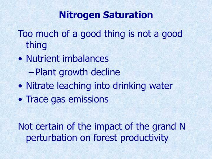 Nitrogen Saturation
