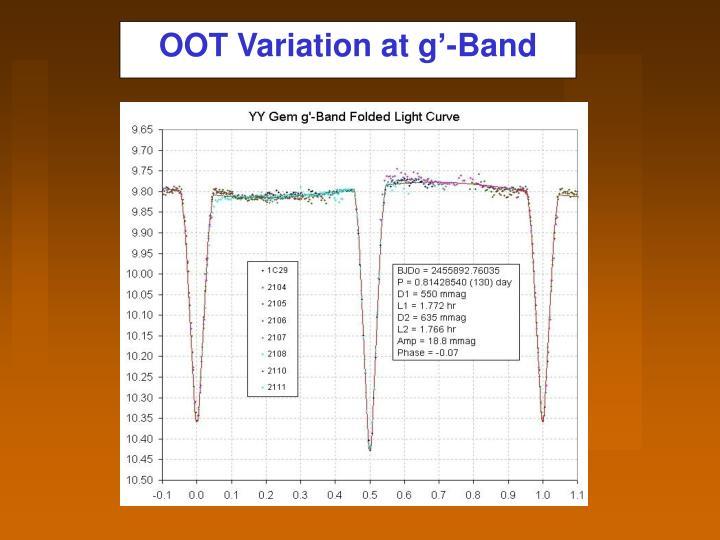 OOT Variation at g'-Band