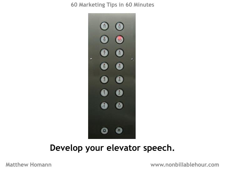 60 Marketing Tips in 60 Minutes