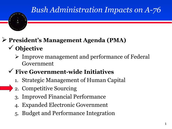Bush Administration Impacts on A-76