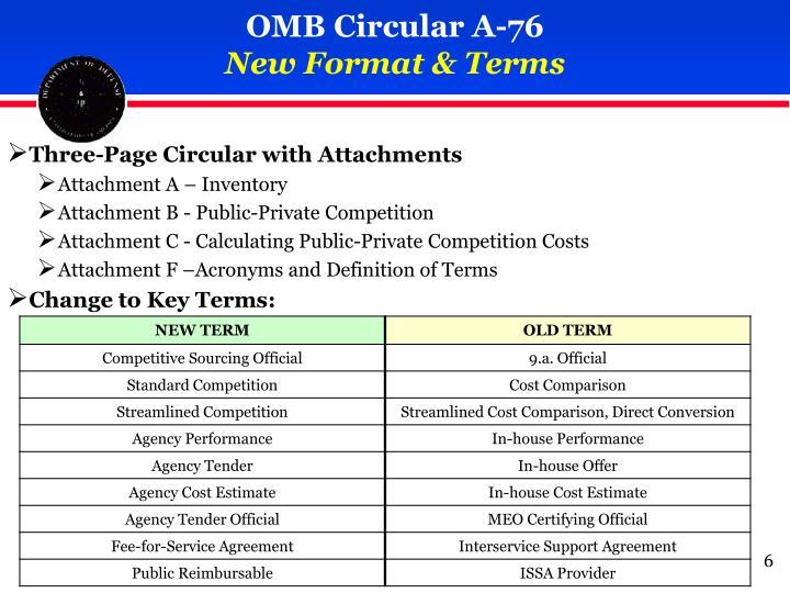 OMB Circular A-76