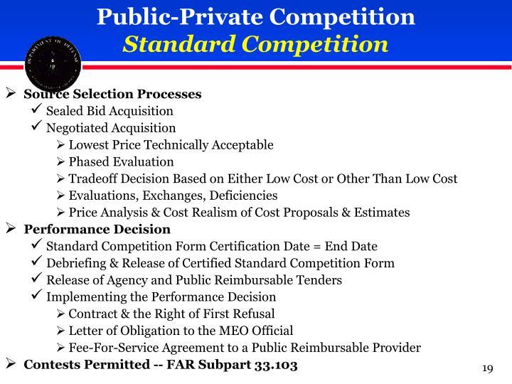 Public-Private Competition