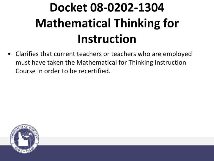 Docket 08-0202-1304