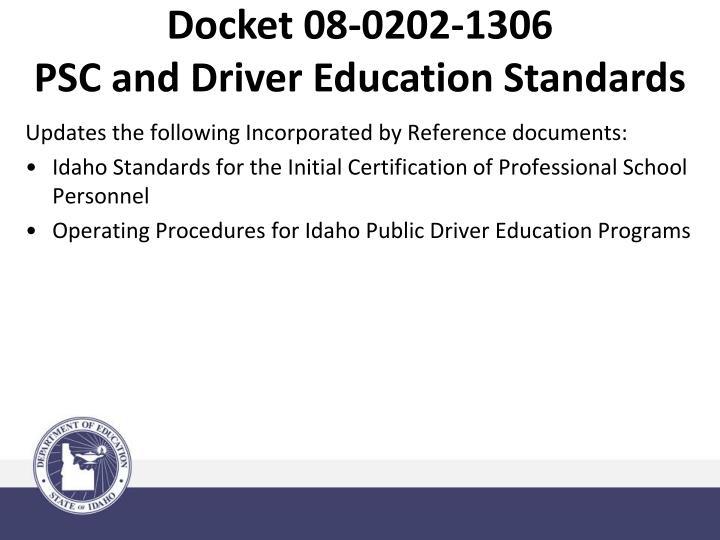 Docket 08-0202-1306