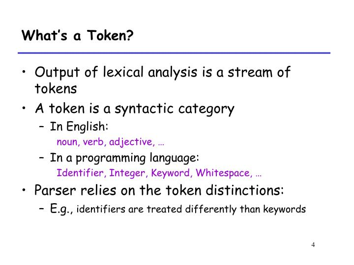 What's a Token?