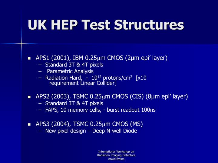 UK HEP Test Structures