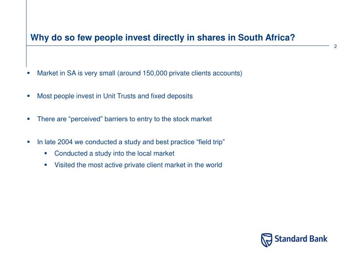 Why do so few people invest directly in shares in south africa