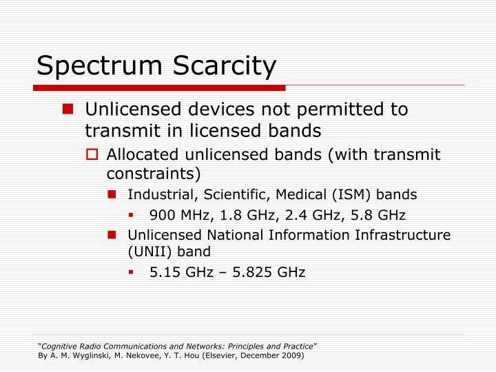 Spectrum Scarcity