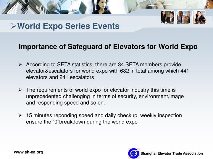 World Expo Series Events