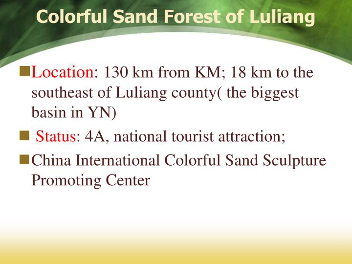 Colorful Sand Forest of Luliang